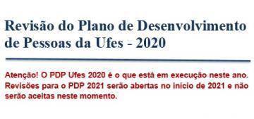 Revisão do Plano de Desenvolvimento de Pessoas da Ufes - 2020